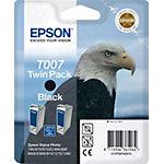 Epson T007 inktcartridge Zwart Duopack