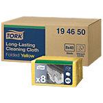 Chiffons de ménage Tork 194650 Viscose, Polyester Jaune 40 Unités
