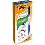 Stylo bille BIC Atlantis Clic Classic Bleu Rétractable 12 Unités