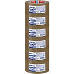 Ruban adhésif d'emballage tesa Fort Low noise Marron 45 µm 50 mm x 66 m 6 Rouleaux