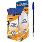 Stylo bille BIC Cristal® 0,4 mm Bleu Avec capuchon 50 Unités
