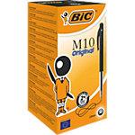 Stylo bille BIC M10 0,4 mm Noir Rétractable 50 Unités
