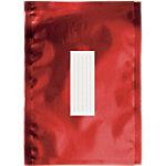 Enveloppes métallisées Office Depot Rouge Sans Fenêtre Bande adhésive 81 g