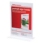 Présentoir Office Depot Sur pieds A4 Transparent acrylique 211 x 93 x 301 mm