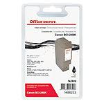 Cartouche jet d'encre Office Depot Compatible Canon BCI 24BK Noir