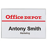 Badge à pince et épingle Office Depot 9 x 6 cm 50 Unités