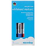 Marqueurs pour tableau blanc niceday 1640275 Ogive 1  3 mm Assortiment de couleurs 4 Unités