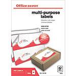 Étiquettes multifonctions Office Depot Coins droits Blanc 105 x 148 mm 100 Feuilles
