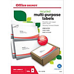 Étiquettes recyclées Office Depot Coins droits  Blanc 210 x 148 mm 100 Feuilles