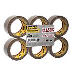 Ruban adhésif d'emballage Scotch Classic Marron 43 µm 50 mm x 66 m 6 Unités