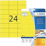 Étiquettes multifonctions HERMA Jaune 70 x 37 mm 20 Feuilles