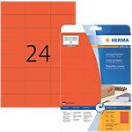 Étiquettes multifonctions HERMA Rouge 70 x 37 mm 20 Feuilles