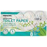 Rouleaux de papier toilette Highmark 3 épaisseurs 8 Rouleaux