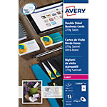Cartes de visite AVERY Zweckform C32026 25 Ultra blanc brillant 270 g