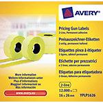 Étiquettes Avery 2 lignes Jaune