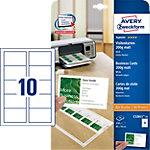 Cartes de visite AVERY Zweckform Blanc Mat 200 g