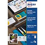 Cartes de visite Avery Blanc Mat 185 g