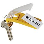 Porte clés DURABLE Key Clip Jaune crochets 2,5 x 6,5 cm