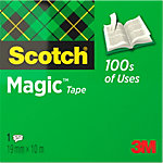 Ruban adhésif Scotch Magic™ 810 Transparent 19 mm x 10 m