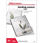 Couvertures de reliures Office Depot A4 PVC Transparent 100 Feuilles