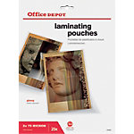 Pochettes de plastification Office Depot A4 2 x 75 (150) µm Transparent Brillant