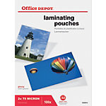 Pochettes de plastification Office Depot A5 2 x 75 (150) µm Transparent Brillant