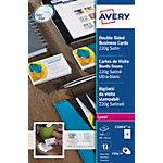 Cartes de visite Avery Blanc Super lisse 220 g