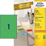Étiquettes universelles Avery Zweckform Quickpeel Vert 210 x 297 mm 100 Feuilles