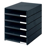 Module de classement Styro 16 8001.90 Noir 5 tiroirs 24,6 x 33,5 x 32,3 cm