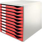 Module de rangement Leitz Form Gris clair, rouge