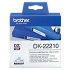 Rouleau d'étiquettes Brother DK22210 29 mm Blanc