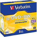 DVD+RW Verbatim 4.7 go 5 unités