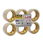 Ruban adhésif d'emballage Scotch Classic Transparent 43 µm 50 mm x 66 m 6 Unités