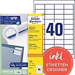 Étiquettes universelles Avery QuickPEEL™ Blanc 48,5 x 25,4 mm 100 Feuilles