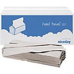 Essuie mains recyclés pliage en C Niceday 1 épaisseur 20 x 182 Feuilles