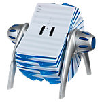 Fichier rotatif DURABLE Visifix Argenté, bleu 500 cartes d'adresse 21,5 x 18,5 x 12 cm