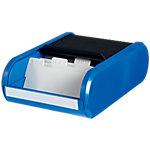 Boîte pour cartes de visite helit Noir, bleu pour 300 Cartes 136 x 240 x 67 mm