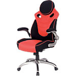 Siège bureautique Realspace Maxx Basculant centré Rouge, noir 500 x 470 mm