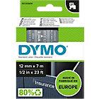 Étiquettes DYMO D1 Blanc sur Transparent 12 mm x 7 m