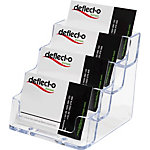 Porte cartes de visite Deflecto 70841 Transparent