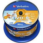 Support DVD R enregistrable Verbatim 43533 4.7 Go 120 Min. 50 Unités