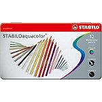 Crayons de couleur STABILO Aqua Assortiment 12 Unités