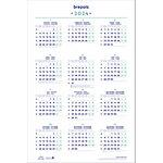 Calendrier annuel Brepols 2017 1 année par page Blanc 40 x 60,5 cm