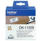 Étiquettes d'expédition Brother DK11209 62 mm Blanc 800 Unités