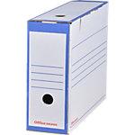 Boîtes d'archivage Office Depot A4 Bleu 100% carton recyclé 25 Unités