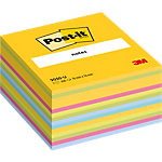 Cube de notes Post it 2030U Assortiment 76 x 76 mm 1 x 450 Feuilles