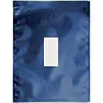 Enveloppes métallisées Office Depot Bleu foncé Sans Fenêtre Bande adhésive 81 g