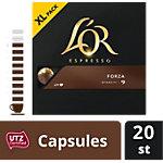 Café Espresso moulu Douwe Egberts L'Or Forza 20 Doses