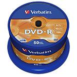 Support DVD R enregistrable Verbatim 43548 4.7 Go 120 Min. 50 Unités