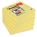 Notes adhésives Post it Super Sticky  Jaune 76 x 76 mm 6 x 90 Feuilles